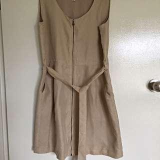 Short Shift Dress, Beige/tan