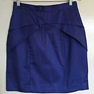 New Royal Blue Skirt, Size 12