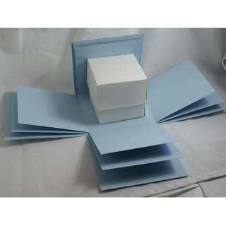 Exploding Box Shell with BONUS Gift BOX - DIY decorating - Light Blue Explosion Box