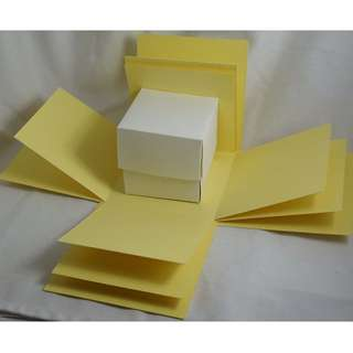 Exploding Box Shell with BONUS Gift BOX - DIY decorating - Yellow Explosion Box