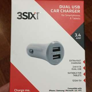 3SIXT Dual 3.4A USB Car Charger