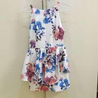 Editor's Market Flower Peplum Dress