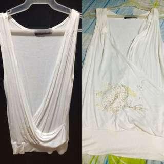 White sleeveless (S/M size)