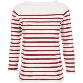 H&M Red Long Sleeve Striped Top