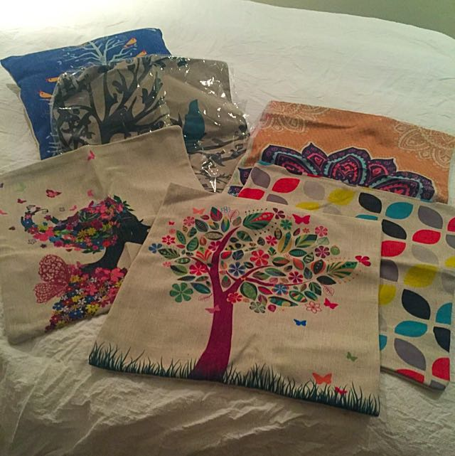 6 Pillow Cases And One Pillow Included