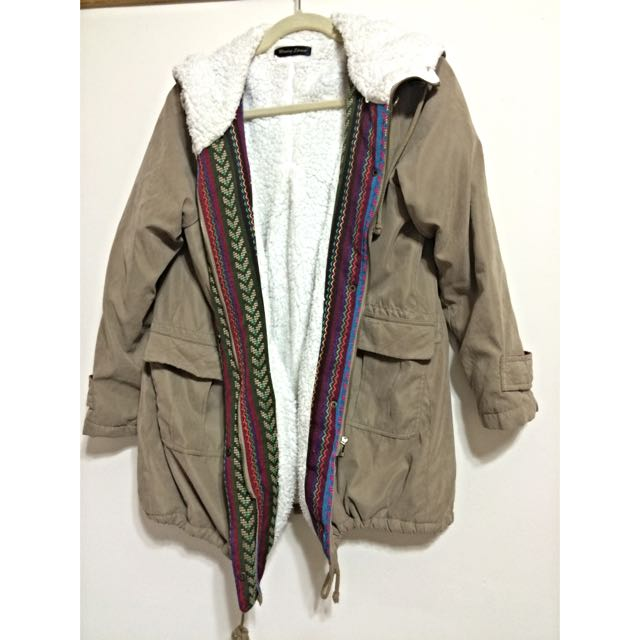 【日本帶回】超級溫暖彩色民族風外套