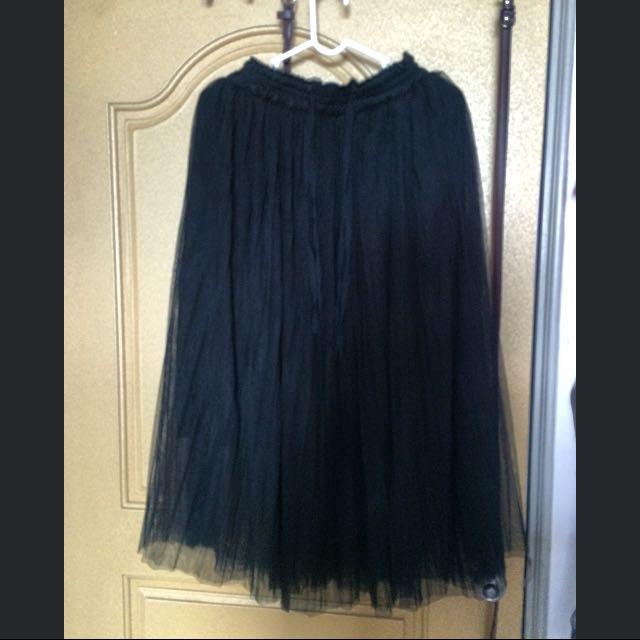仙女氣質紗裙~黑灰兩色便宜賣