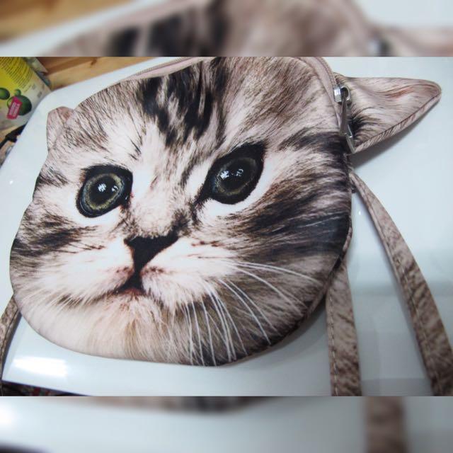 貓咪大頭包 /側 肩 背包 小圓包