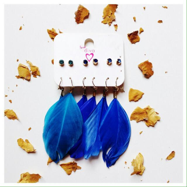 Accessorize - All Blue Earring.