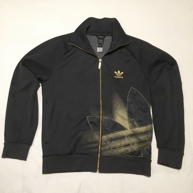 ADIDAS Black Zip Up Jumper Men's S