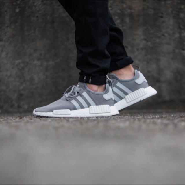 adidas NMD Runner R1 灰白 BOOST 輕量 慢跑 限量款 男鞋