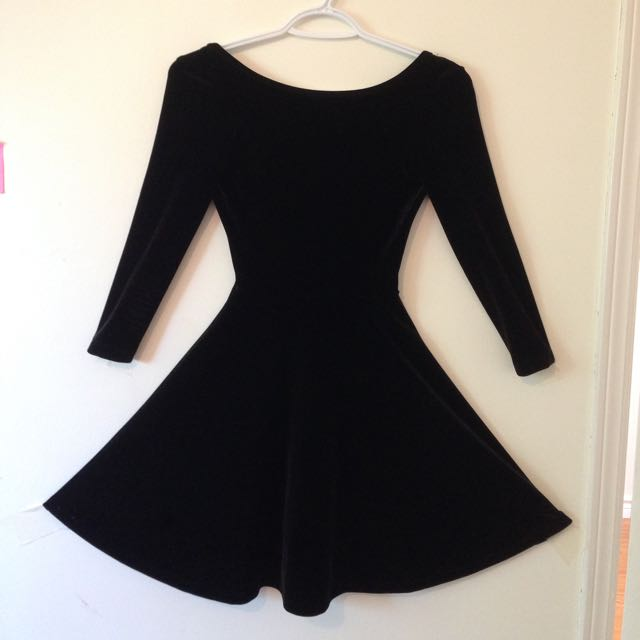 American Apparel Velvet Skater dress