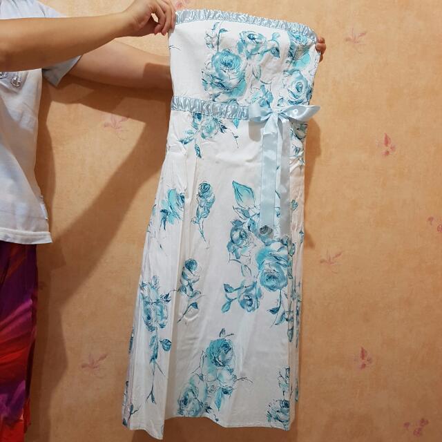 Blue Flower Party Dress
