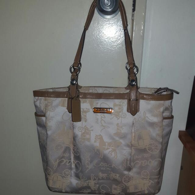 Coach East West Horse Carriage Tote Bag