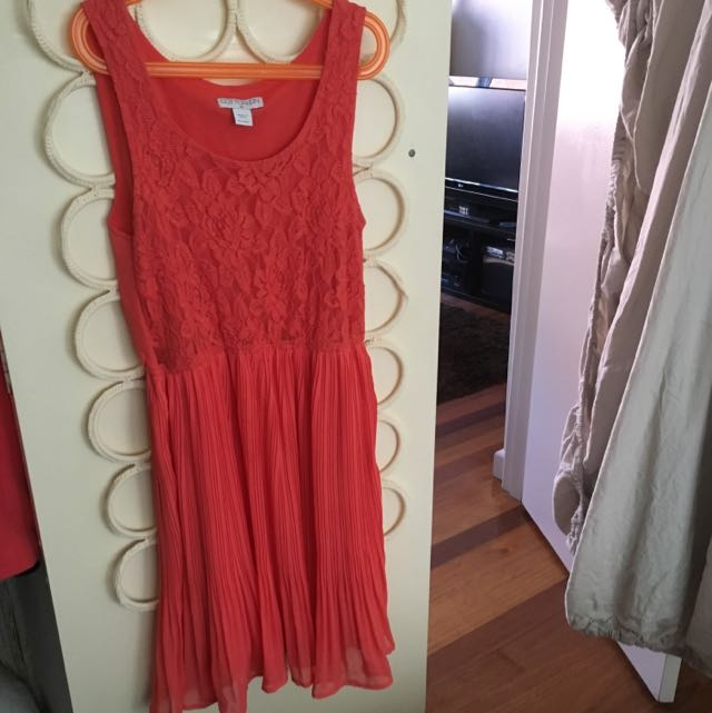 Coral Swing Dress