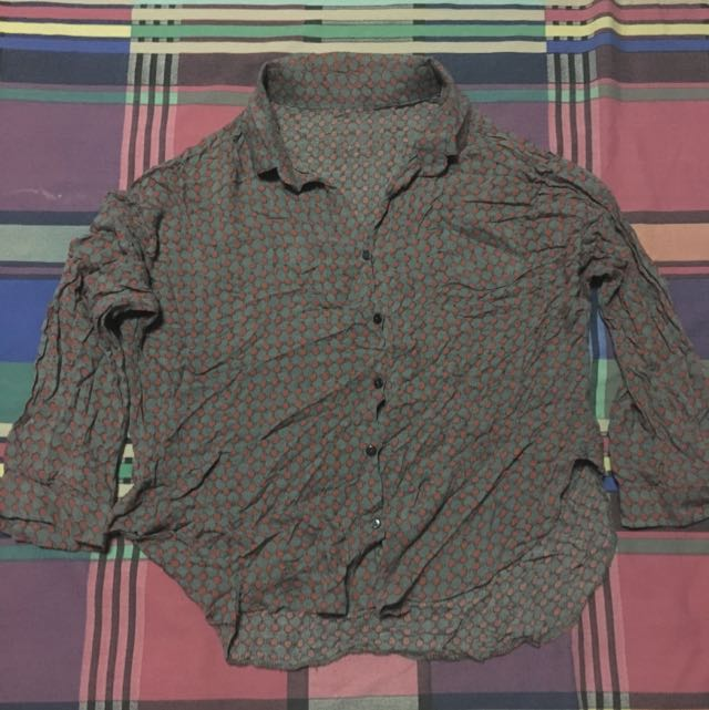 Cropped Office Blouse
