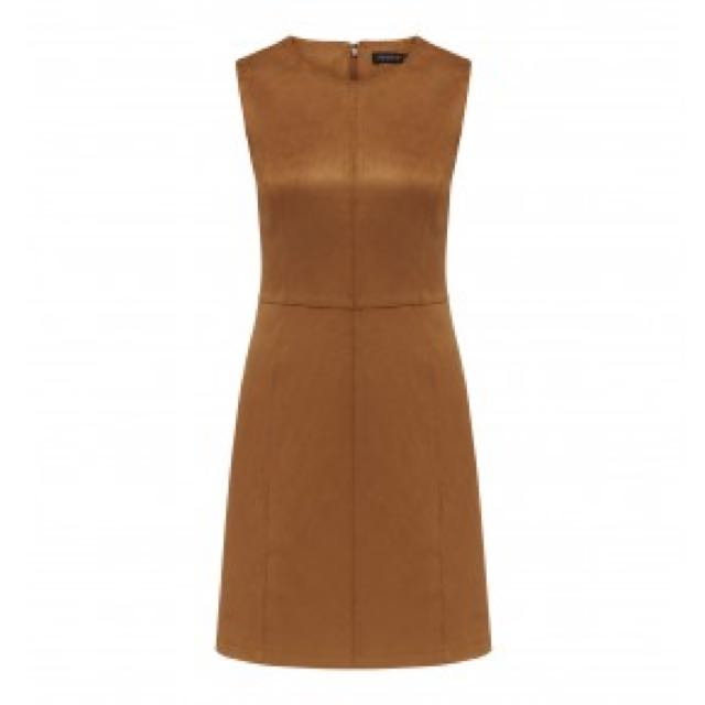 Fauxe Suede Shift Dress Forever New