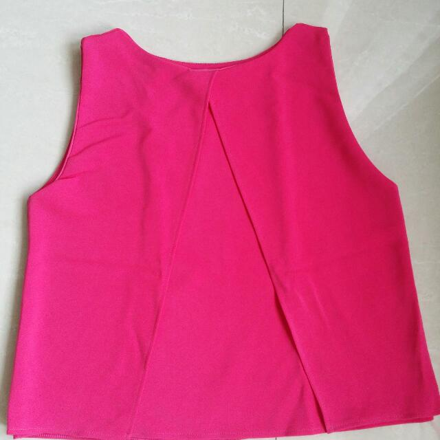 Fuschia Simple Top