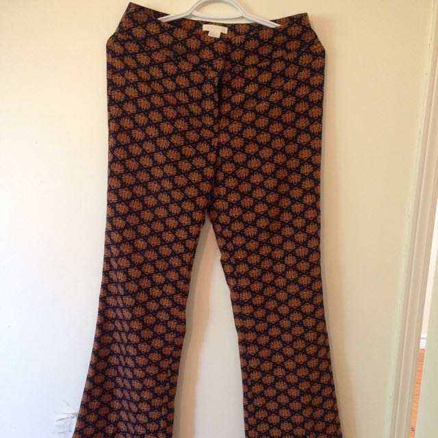 H&M Printed Flare Pants