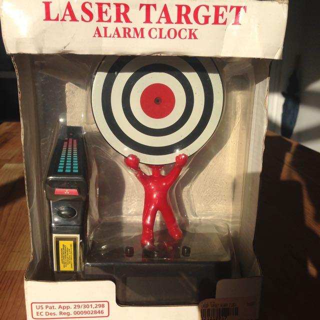 Laser Target Alarm Clock