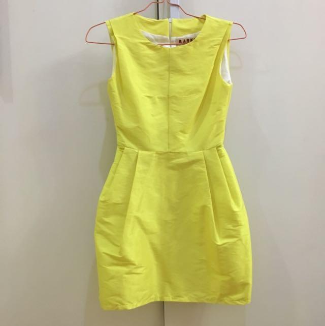 Marni Inspired Yellow Dress