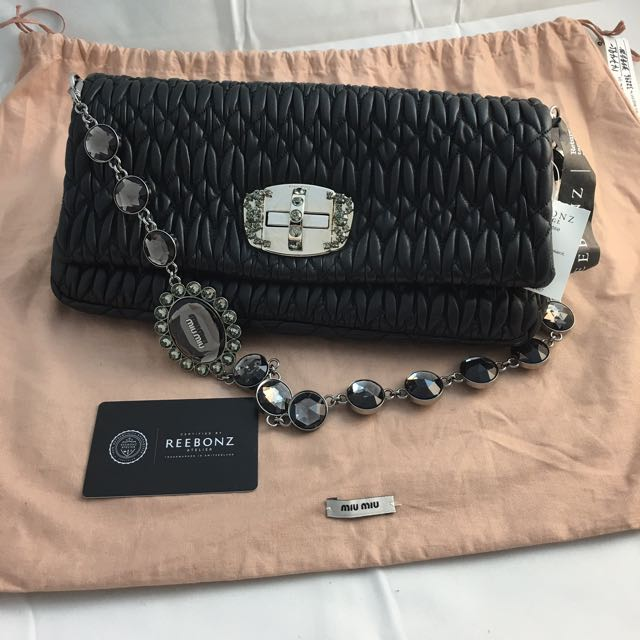 c0b050c25449 Miu Miu Cloquet Nappa Leather Shoulder Bag