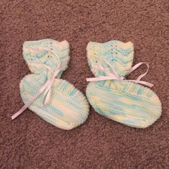Newborn Baby Knitted Booties