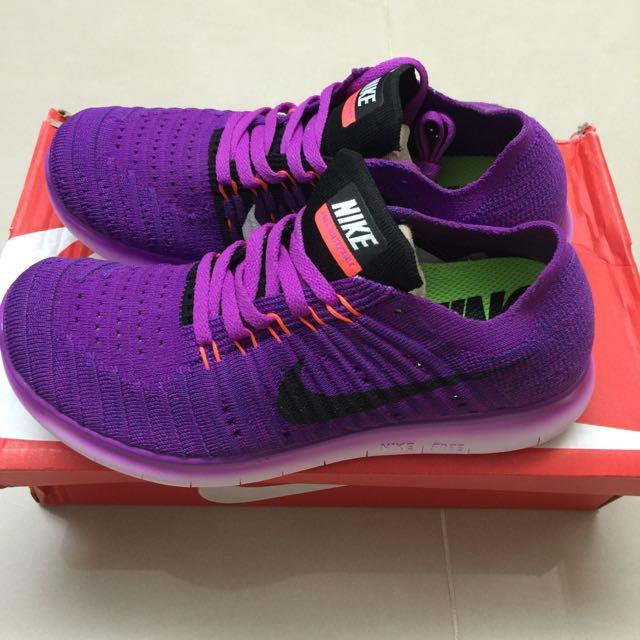 Nike RN Flyknit 女紫