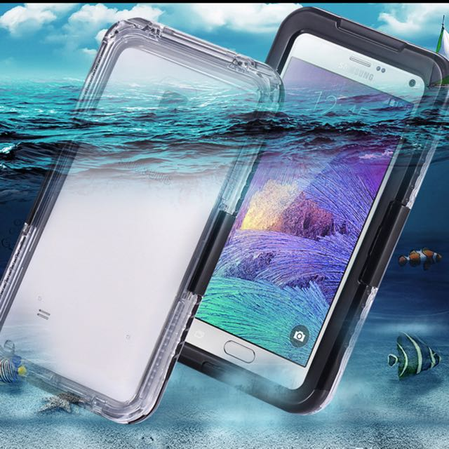 sale retailer fbea3 005e8 Note 4 Capa Waterproof Cases Clear TPU Hybrid Swimming Dive Case For  Samsung Galaxy Note 4 N9100 Shock Proof Phone Protected Bag