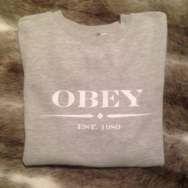Obey Jumper In grey
