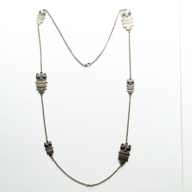 Owl Necklace Long