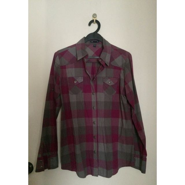 Pink & Grey Plaid from GAP