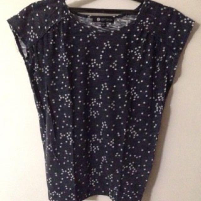 PRELOVED ORI Cotton On T-Shirt Stars in Blue