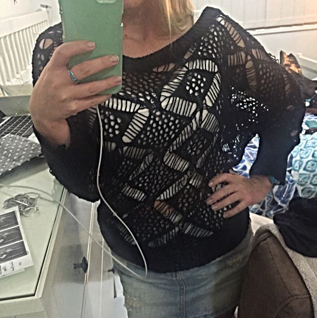Size Small Knit See Through Jumper