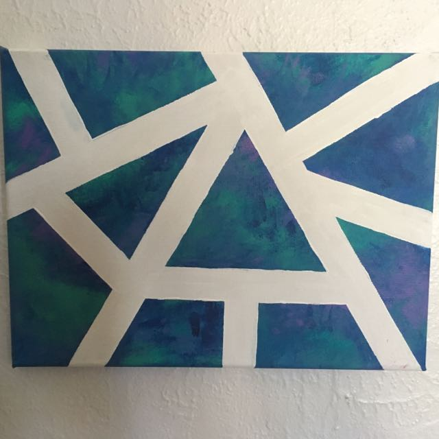 Teal Abstract Painting