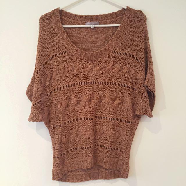 TEMT Knitted Top (burnt orange)