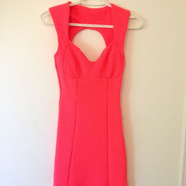 TopShop Neon Pink BodyCon Dress