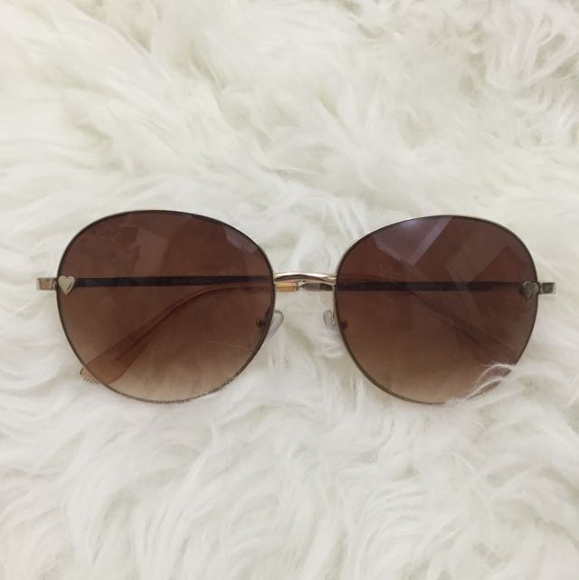 Topshop Sunglasses With Little Heart Details