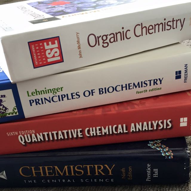 Universities chemistry texts