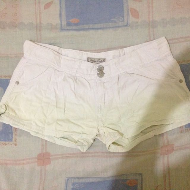 Virgin Only White-mint Green Ombre Shorts ❤️
