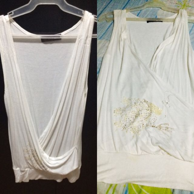 White sleeveless (S/M size)