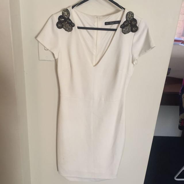 ZARA Body Con Off White Dress