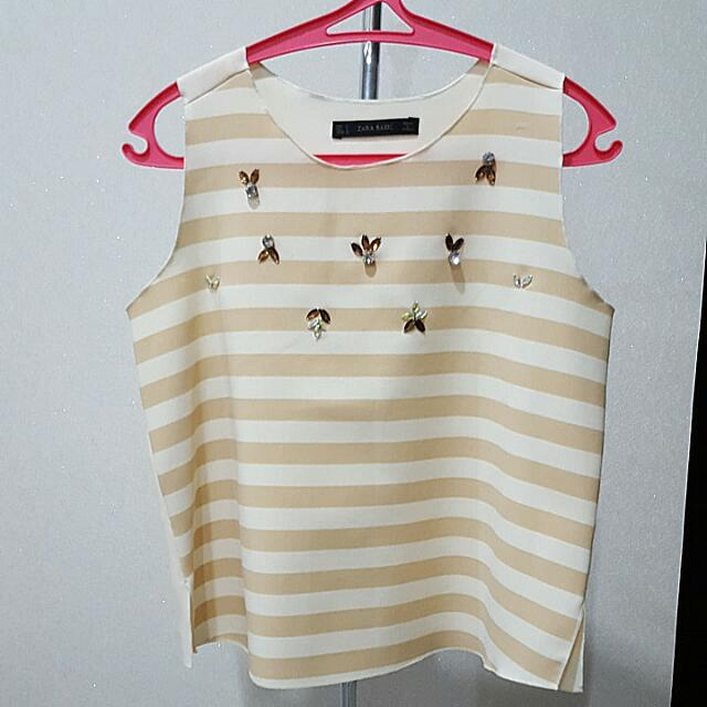 Zara Pink Stripes Top