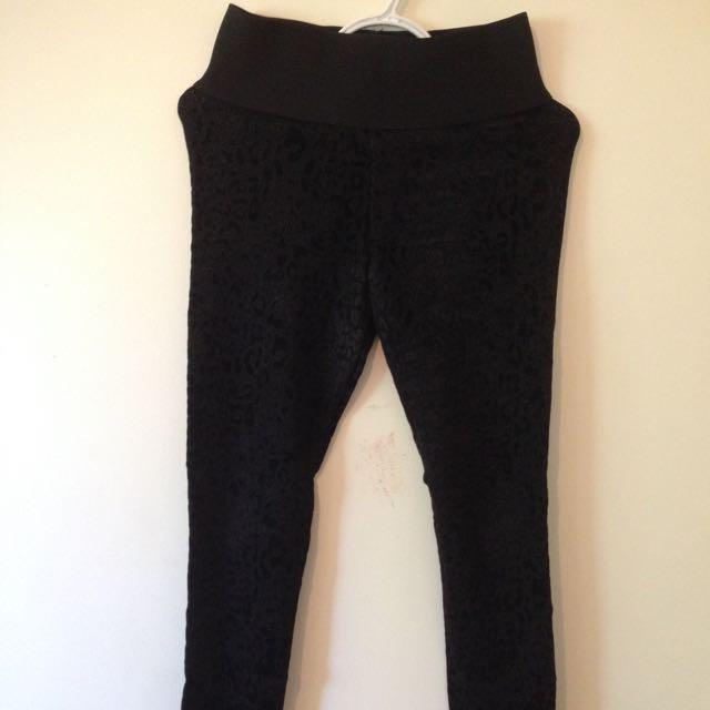 Zara Velvet Leopard pants
