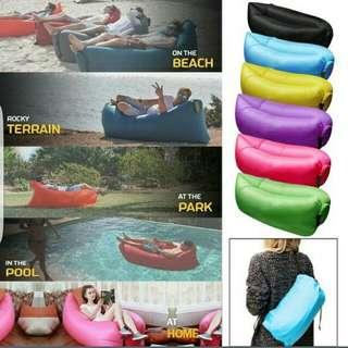 #The Nylon Inflatable Air bed Lounge Lazy Sofa, Beach Chair, Portable and Fashion Beach Accessories