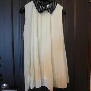 雪紡紗洋裝 無袖 不透 連身裙 長裙