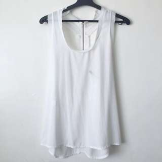 Sheer White Top From Paris, France