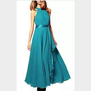 MARKDOWN BN Simple Blue Gown/Maxi Dress For All Occasions