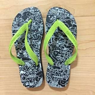 (預定)【havaianas】螢光塗鴉夾腳拖 – 正品