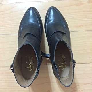 (預定)【iki2】真皮黑色短靴 – 正品